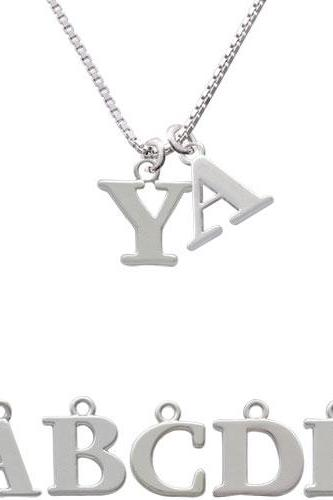 Large Greek Letter - Upsilon - Initial Charm Necklace NC-C2289-SPInitial-F1578-Greek