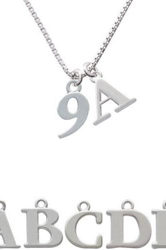 Number - 9 - Initial Charm Necklace NC-C3633-SPInitial-F1578